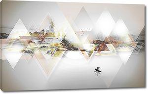 Горный пейзаж в треугольниках