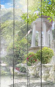 Солнечный пейзаж с колоннами