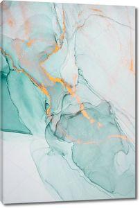 Чернила, краска, абстракция. Крупный план картины. Красочный абстрактный фон. Высокотекстурированная масляная краска. Высокое качество деталей. Алкогольные чернила современная абстрактная живопись, современное искусство .