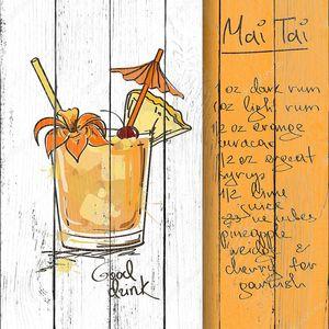 Иллюстрация с Май Тай коктейль