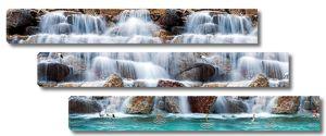 Водопад с валунами