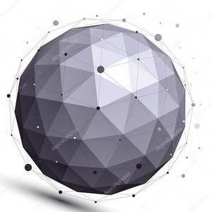 геометрическое контрастное сферическое число с проволочной сеткой, современным scien