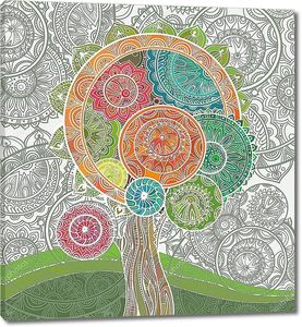 Волшебное дерево с орнаментом