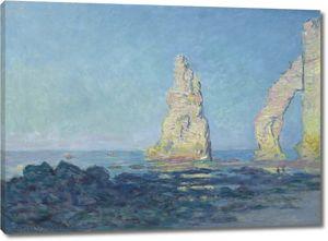 Моне Клод. Игла Этрета, отлив, 1883