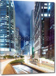 Бизнес центр Гонконг ночью