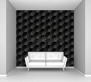 3D черные кубы