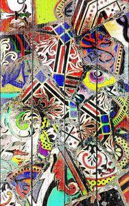 Яркая абстракция с узорами