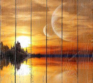фэнтезийный закат