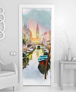 Картина Венеции написанная акварелью