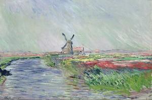 Моне Клод. Поля тюльпанов в Голландии, 1886