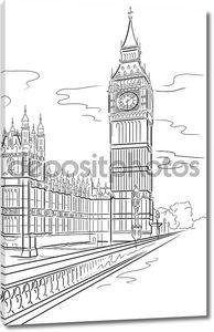 Биг-Бен башня в Лондоне