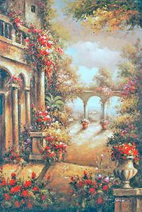 Прекрасные сады во дворе