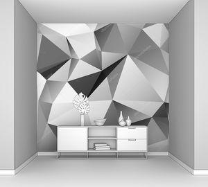 Монохромный фон треугольников в серых оттенках