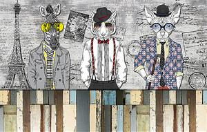 Животные в одежде людей