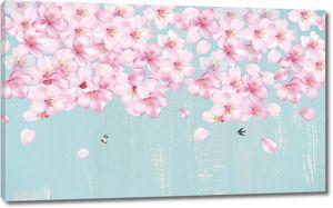 Цветочки вишни