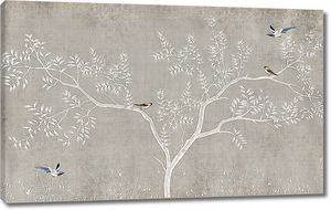 Птицы на ветвистом дереве