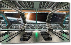 Отсек корабля в космосе