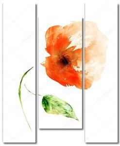 Акварельный цветок на белом фоне