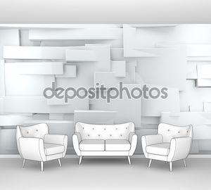 White shiny brick wall