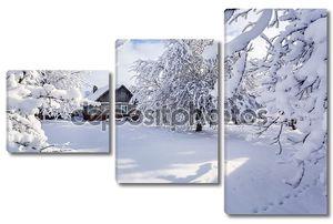 Зимняя сказка в горной деревне