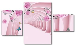 Розовый тоннель