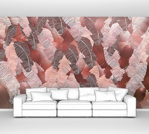 Pletora-множество коричневых  пальмовых листьев
