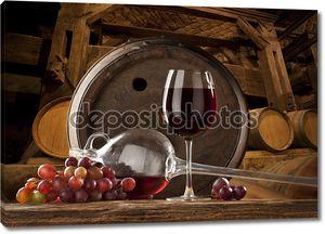Натюрморт с красным вином