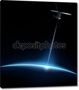 Связь между спутником и земли