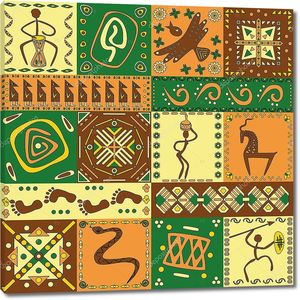 Орнамент из африканских рисунков