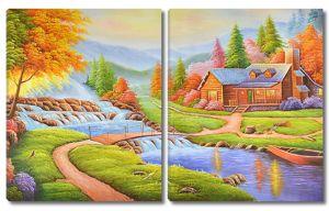 Деревянный домик на реке