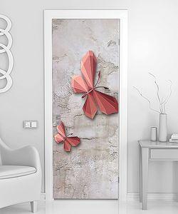 Бабочки в стиле оригами