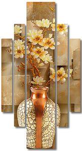 Мраморный фон с вазой
