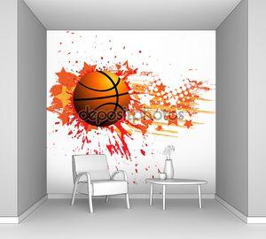 Векторный баннер баскетбол