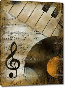 Музыкальный фон с пластинкой