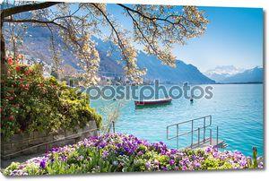 Прекрасный вид на Женевское озеро