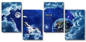 Космические корабли сквозь космические облака