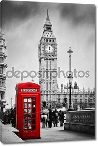 Красный телефонной будке и Биг-Бен
