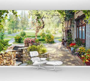 Виноград в саду у дома
