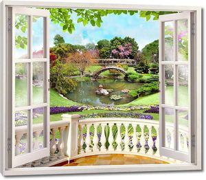 Веранда с видом на зеленый сад