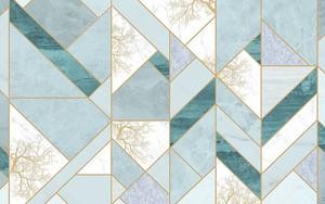 Плиточный фон в зеленой и серой мраморной плитке