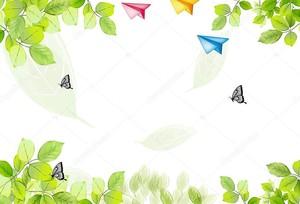 Листья, бабочки, бумажные самолетики