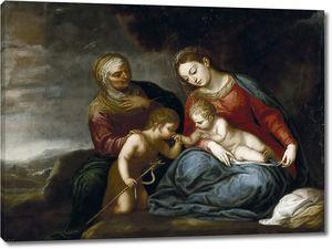 Педро Атанасио Боканегра. Мадонна с младенцем со святой Елизаветой и Иоанном Крестителем