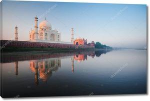 Тадж Махал реки восход утро Агра