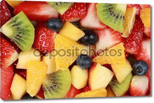 вид сверху фруктовый салат