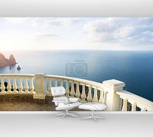 Вид на океан из каменный балкон