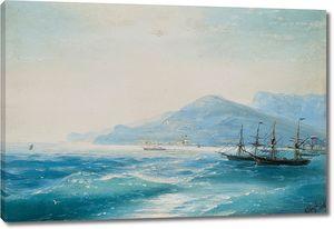 Айвазовский. Корабли у побережья