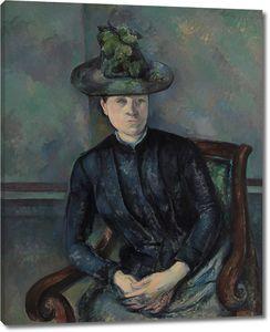 Поль Сезанн. Мадам Сезанн с зеленой шляпой