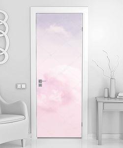 фрагмент розовые облака и небо.
