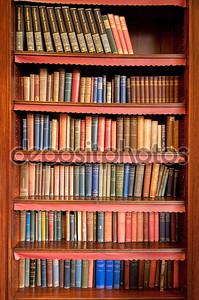 Старый полке в древней библиотеки