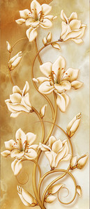 Лилии на золотом стебле